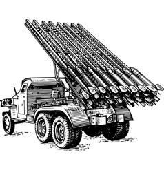 Reactive artillery bm 13 katyusha vector