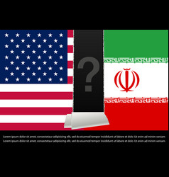 Relationship between usa and iran vector