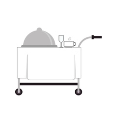 Room service cart icon vector