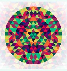 Round geometric triangle kaleidoscopic mandala vector