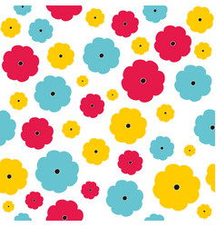 seamless floral pattern seamless vector image