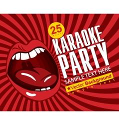 Singing karaoke vector
