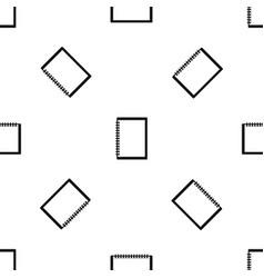 sketchbook pattern seamless black vector image