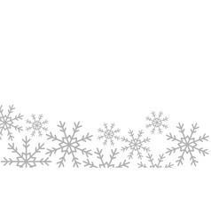 Snowflakes christmas decoration icon vector