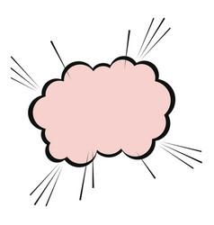Speech cloud message blank comic vector