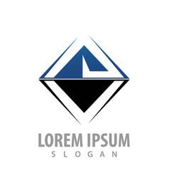 square initial letter av logo concept design vector image