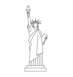 statue liberty line icon vector image