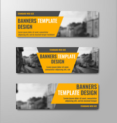 templates of horizontal banners with diagonal vector image