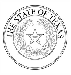 the state of texas seal vector image