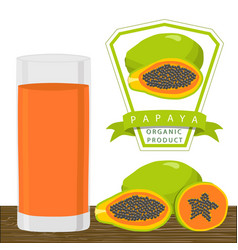 the theme papaya vector image