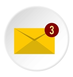 Three new e-mail icon flat style vector