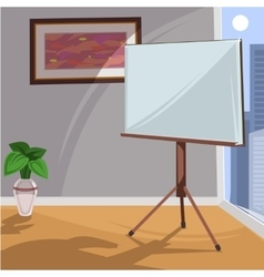 White board for presentation in an office vector