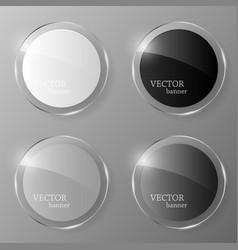 glass banner set vector image