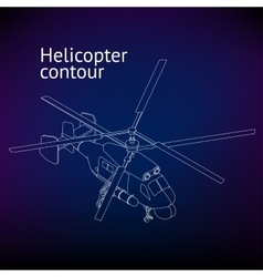 Isometric Helicopter outline vector image vector image
