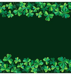 pattern clover borders vector image vector image
