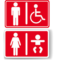Restroom men women baby handicapped vector image vector image