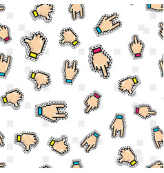 Seamless pattern with thumbs down two vector