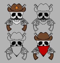 Cowboy Skull Mascot vector image vector image