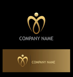 love luxury gold valentine logo vector image