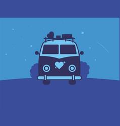 modern professional sign logo night love vector image