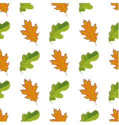 seamless pattern with hand drawn green and orange vector image