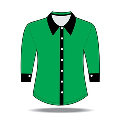 Shirt with long sleeves vector image vector image