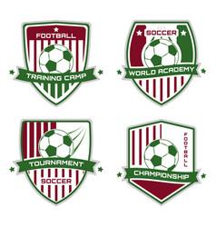 soccer emblem football logotype sport vector image