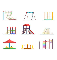equipment of amusement park playground isolated vector image vector image