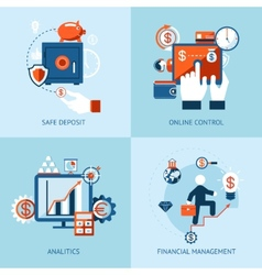 Financial online banking and payment control vector image vector image