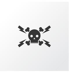 high voltage icon symbol premium quality isolated vector image