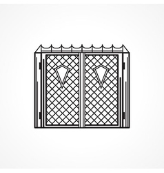 Line icon for iron gates vector image vector image