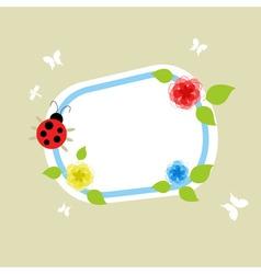 on a framework the ladybird creeps a vector illust vector image vector image