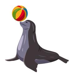Sea bear icon cartoon style vector