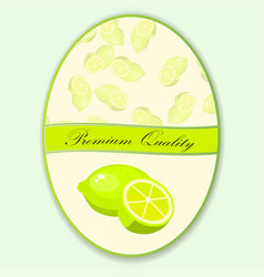 sweet juicy whole and slice lemon vector image vector image