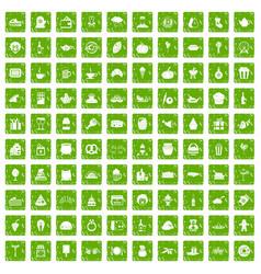 100 bounty icons set grunge green vector