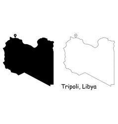 1103 tripoli libya vector image