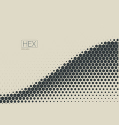2d abstract geometric wave hex halftone pattern vector