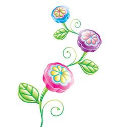 3d funny flower vector