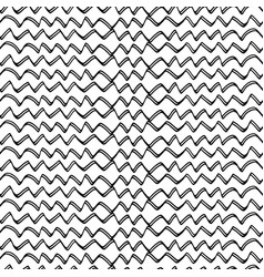 abstract hand drawn zig-zag-05 vector image