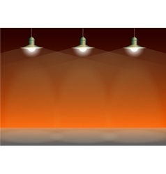 Ancient three bronze lamp hanging Big and empty vector image