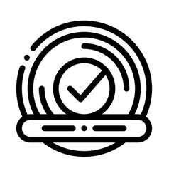 approved button with text element icon vector image