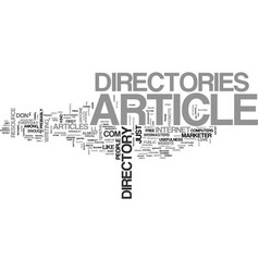 Article directory anyone text word cloud concept vector