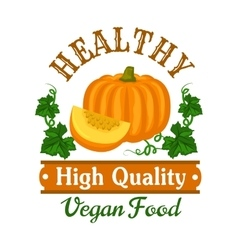 Autumn harvest pumpkin vegetable symbol vector