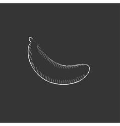 Banana Drawn in chalk icon vector