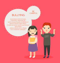 Bullying banner template with text space vector