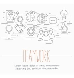 business teamwork symbols vector image
