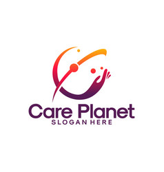 care planet logo designs care place logo template vector image