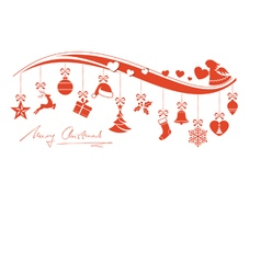 Christmas ornament border with angel vector