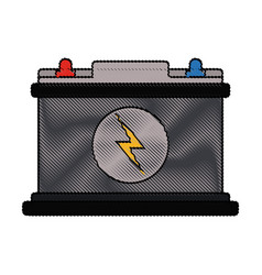 color blurred stripe of car battery icon vector image