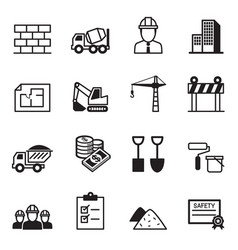 construction icon set2 vector image